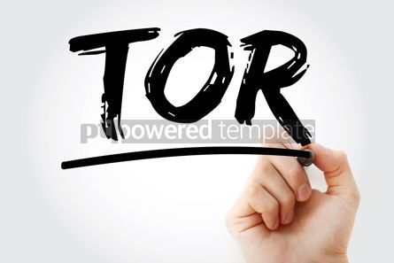 Business: TOR - Terms of Reference acronym with marker business concept b #17425