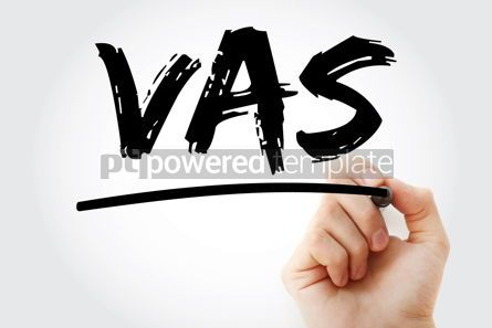 Business: VAS - Value Added Services acronym with marker concept backgrou #17450