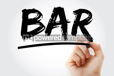 Business: BAR - Best Available Rate acronym with marker business concept #17455