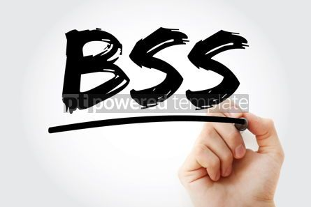 Business: BSS - Business Support System acronym with marker business conc #17457