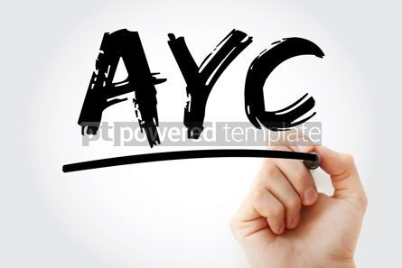 Business: AYC - Advance Your Career acronym with marker business concept #17458