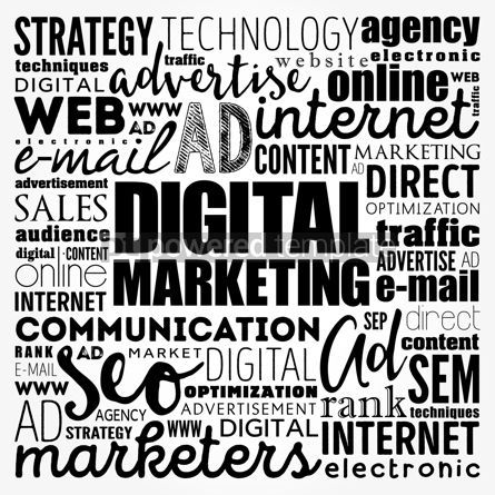 Business: Digital Marketing word cloud collage business concept backgroun #17478