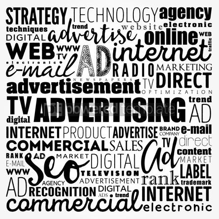 Business: ADVERTISING word cloud creative business concept background #17480