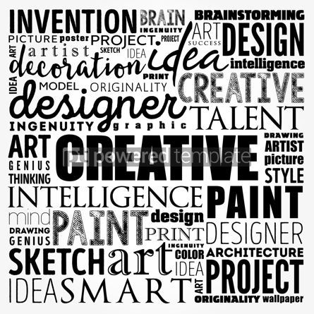 Business: CREATIVE word cloud creative business concept background #17481