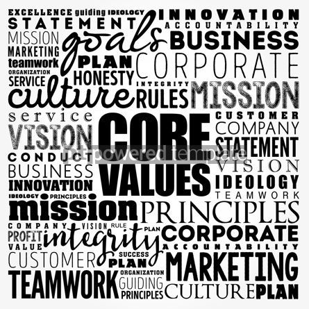 Business: Core values word cloud collage business concept background #17485