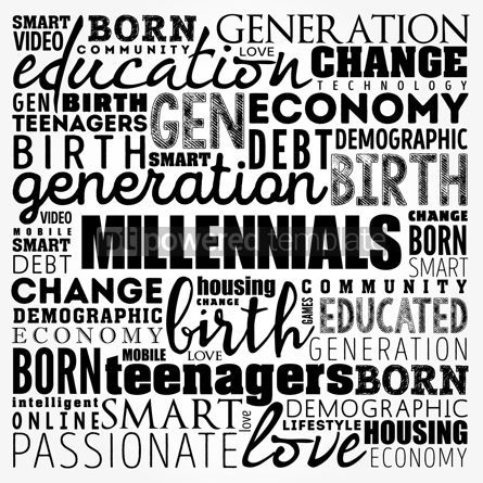 Business: Millennials Word Cloud collage education concept background #17487