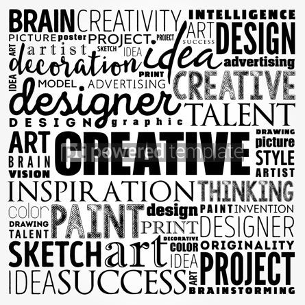 Business: CREATIVE word cloud creative business concept background #17489