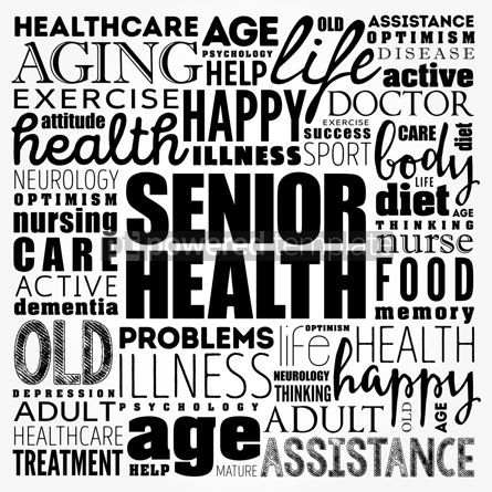 Business: Senior health word cloud collage social concept background #17493