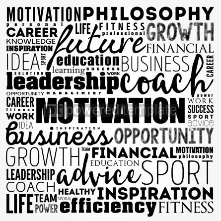 Business: MOTIVATION word cloud collage coaching concept background #17494
