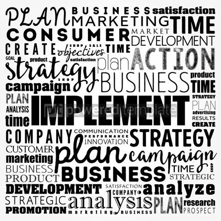 Business: Implement word cloud collage business concept background #17495
