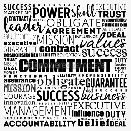 Business: Commitment word cloud collage business concept background #17496