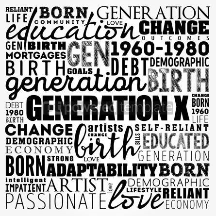 Business: Generation X Word Cloud education concept background #17502