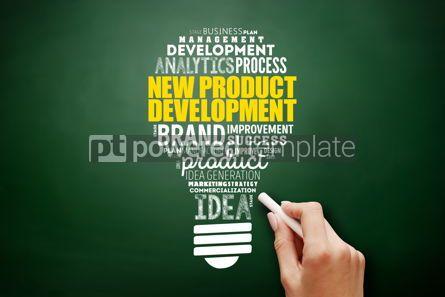 Business: New product development light bulb word cloud #17506