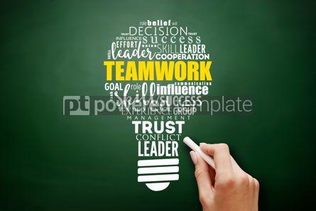 Business: Teamwork light bulb word cloud business concept #17514