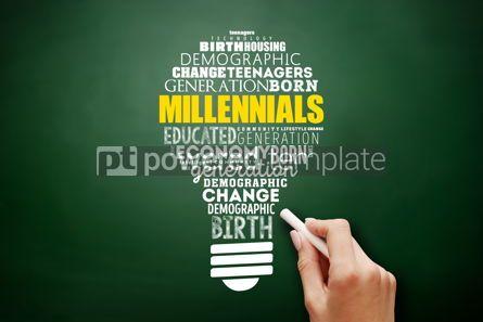 Business: Millennials light bulb word cloud education concept #17521