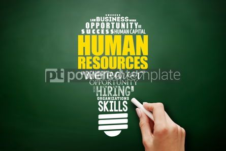 Business: HR - Human Resources light bulb word cloud collage #17524