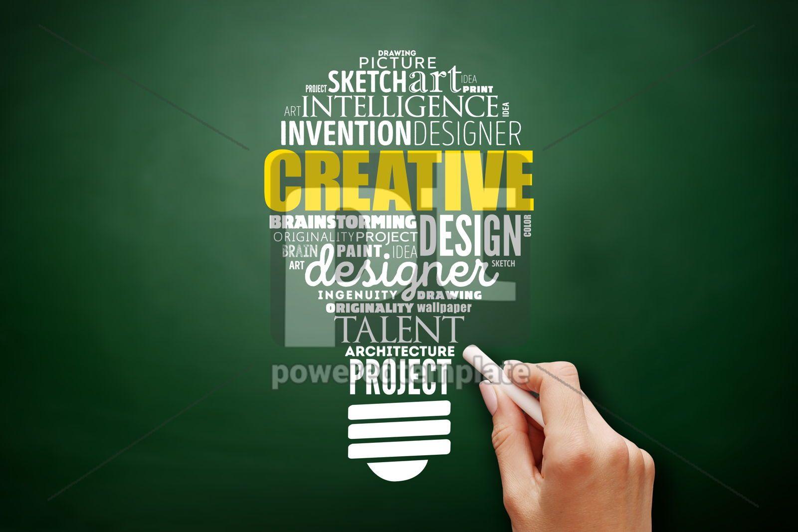 CREATIVE light bulb word cloud creative concept, 17529, Business — PoweredTemplate.com