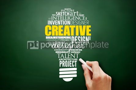 Business: CREATIVE light bulb word cloud creative concept #17529