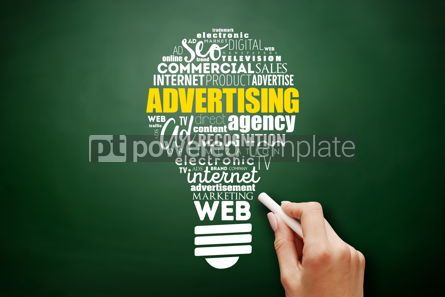 Business: ADVERTISING light bulb word cloud creative concept #17530