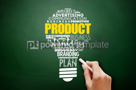 Business: PRODUCT light bulb word cloud collage #17532
