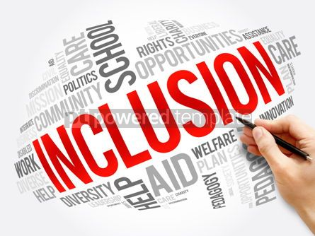 Business: Inclusion word cloud collage business concept #17537