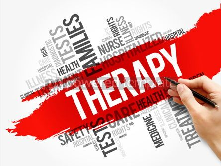 Business: Therapy word cloud collage health concept #17569