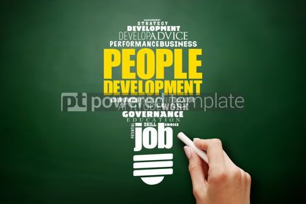 Business: People Development light bulb word cloud collage #17582