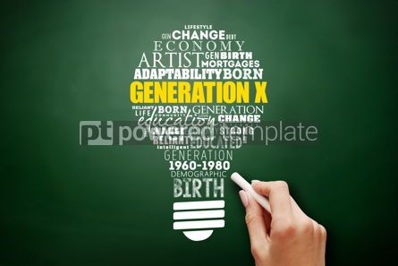 Business: Generation X light bulb Word Cloud collage #17586