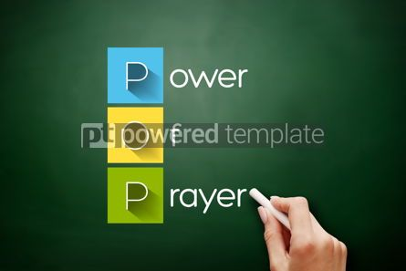 Business: POP - Power Of Prayer acronym concept background #17602