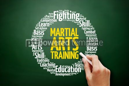Business: Martial Arts Training word cloud collage #17612