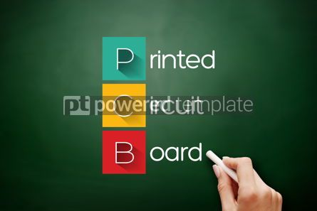 Business: PCB - Printed Circuit Board acronym on blackboard #17636