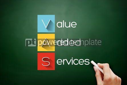 Business: VAS - Value Added Services acronym on blackboard #17653