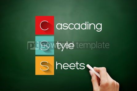 Business: CSS - Cascading Style Sheets acronym on blackboard #17654