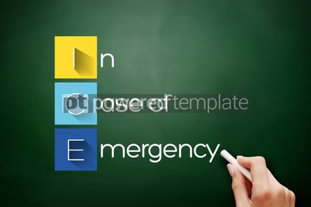 Business: ICE - In Case of Emergency acronym on blackboard #17662