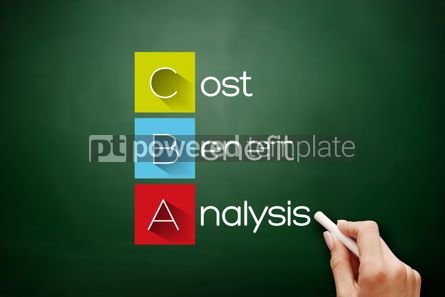 Business: CBA - Cost-benefit Analysis acronym on blackboard #17664