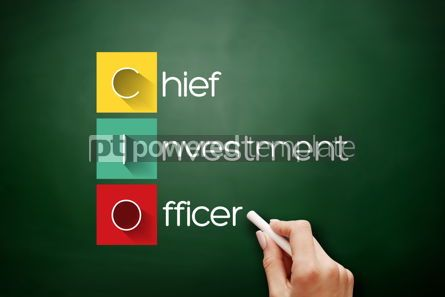 Business: CIO - Chief Investment Officer acronym on blackboard #17670