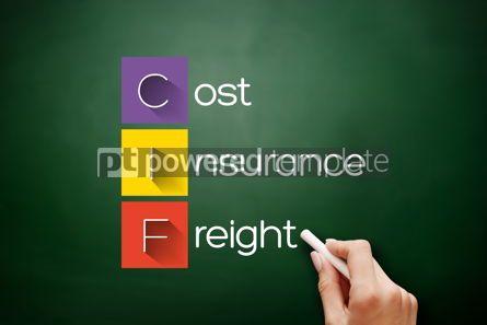 Business: CIF - Cost Insurance Freight acronym on blackboard #17688