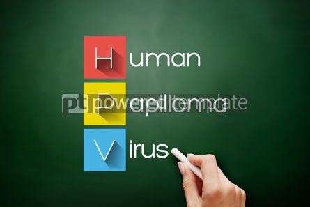 Business: HPV - Human Papilloma Virus acronym on blackboard #17690