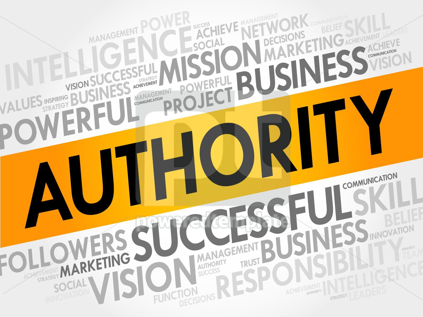 AUTHORITY word cloud, 17710, Business — PoweredTemplate.com