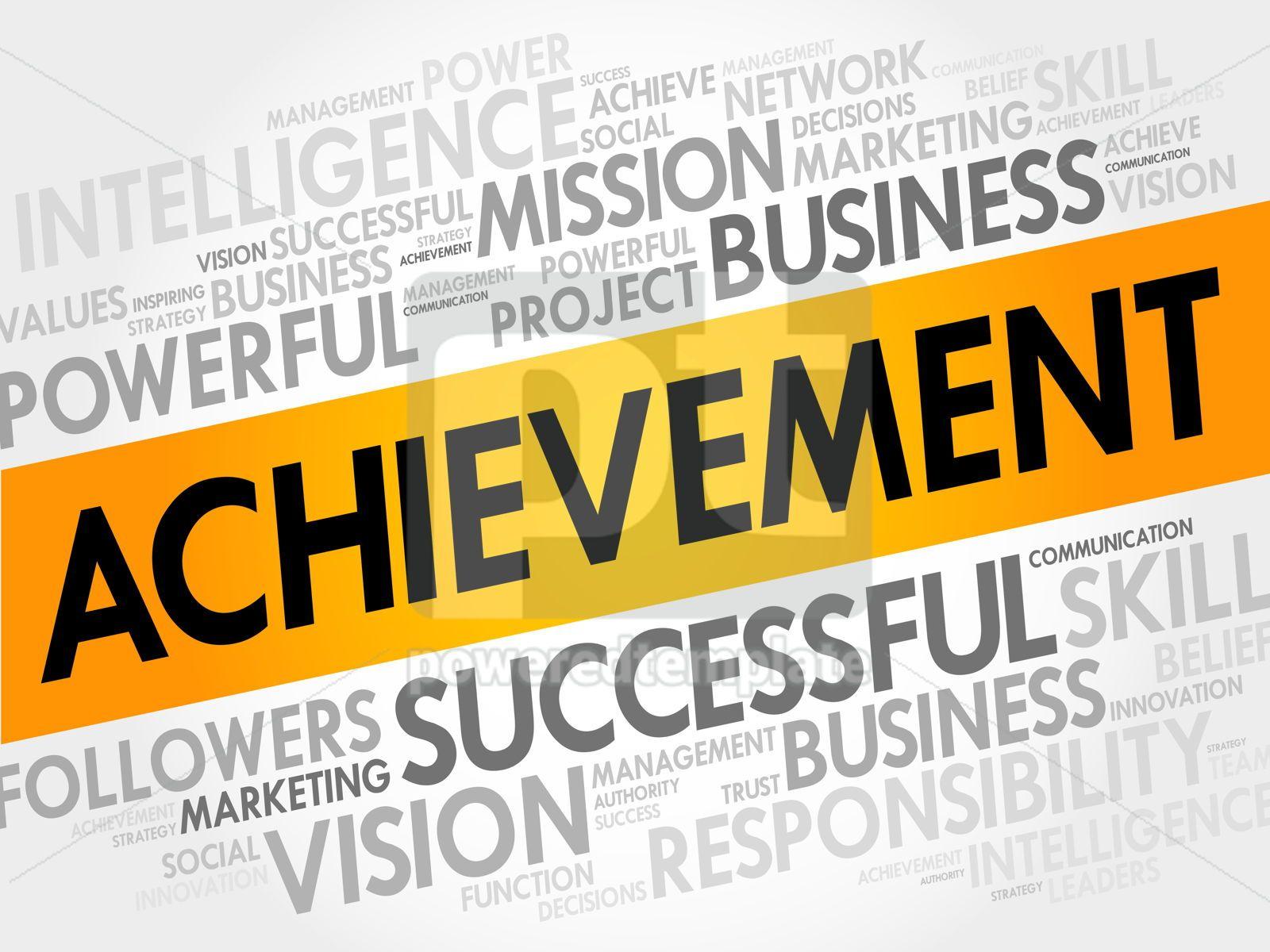 Achievement word cloud, 17711, Business — PoweredTemplate.com