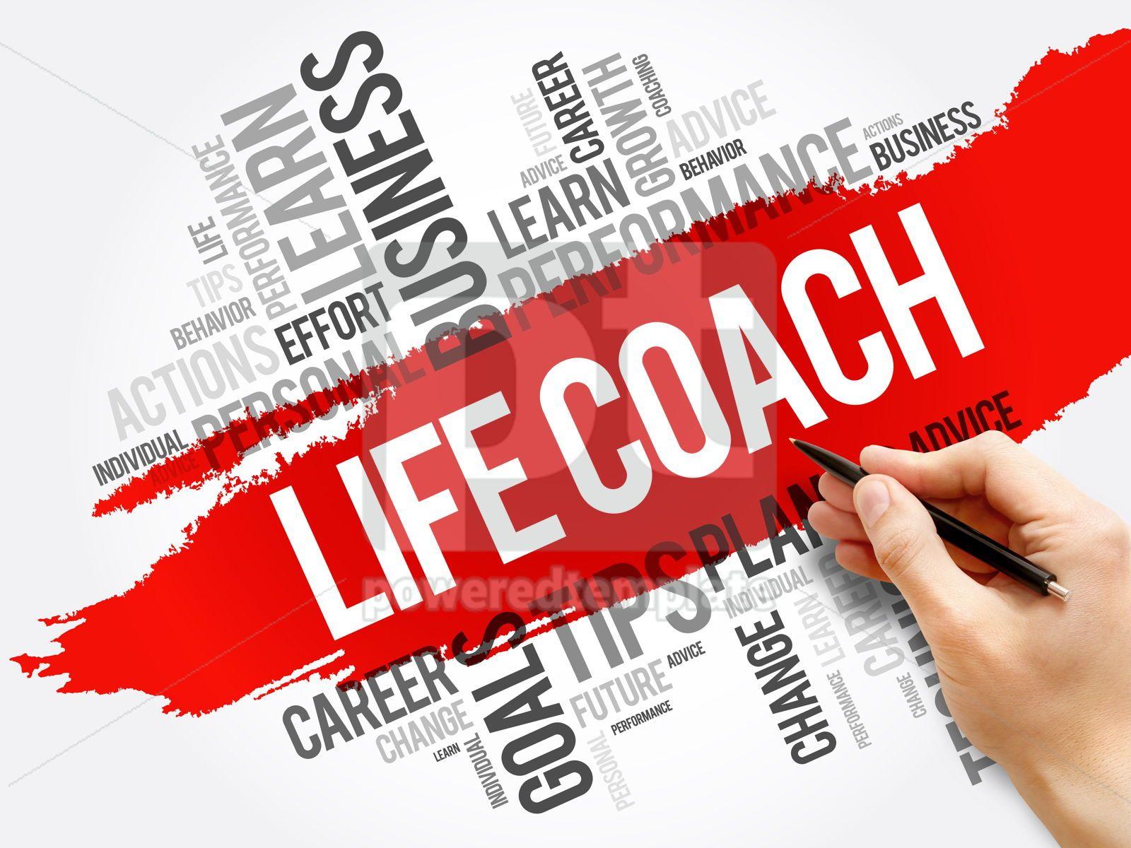Life Coach word cloud collage education concept, 17717, Business — PoweredTemplate.com