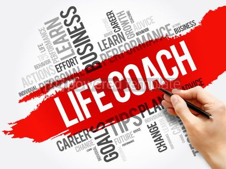 Business: Life Coach word cloud collage education concept #17717