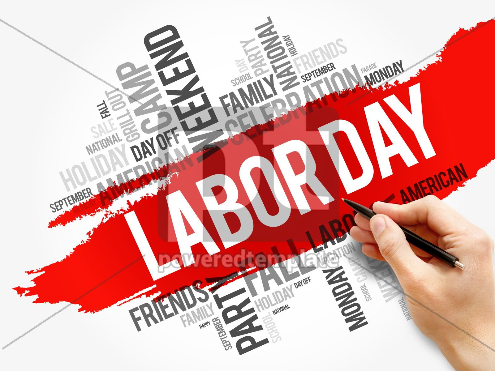 Labor Day word cloud collage holiday concept, 17720, Business — PoweredTemplate.com