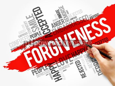 Business: Forgiveness word cloud collage social concept #17721