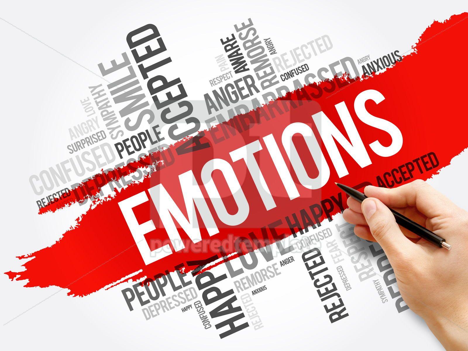 Emotions word cloud collage social concept, 17723, Business — PoweredTemplate.com