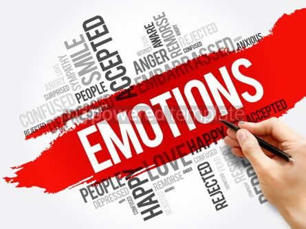 Business: Emotions word cloud collage social concept #17723