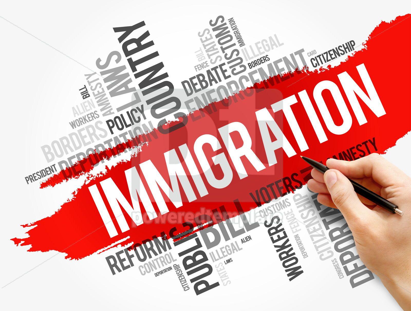 Immigration word cloud collage social concept, 17724, Business — PoweredTemplate.com