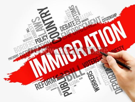 Business: Immigration word cloud collage social concept #17724