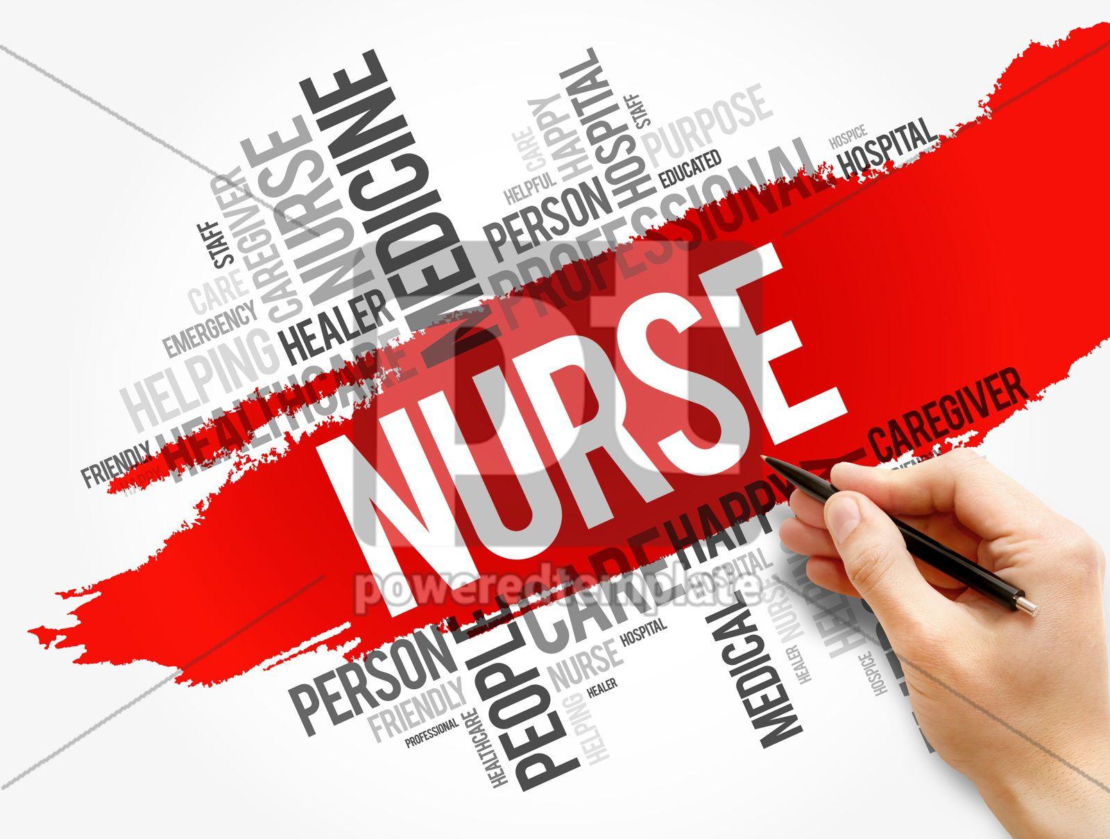 Nurse word cloud collage health concept, 17728, Business — PoweredTemplate.com