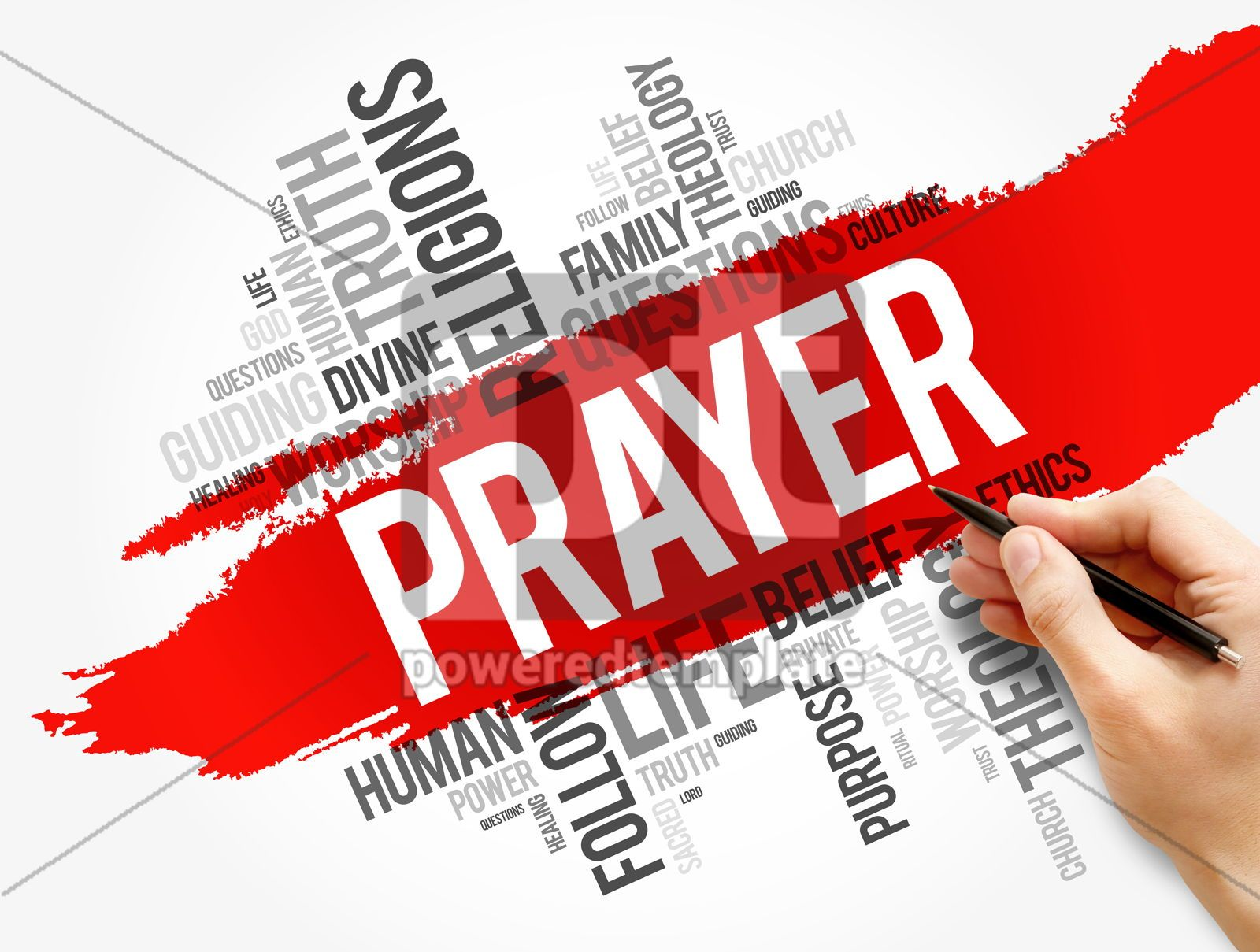 Prayer word cloud collage religion concept, 17729, Business — PoweredTemplate.com